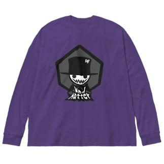DIRTY FRIENDsのマッドハッター モノクロ Big silhouette long sleeve T-shirts