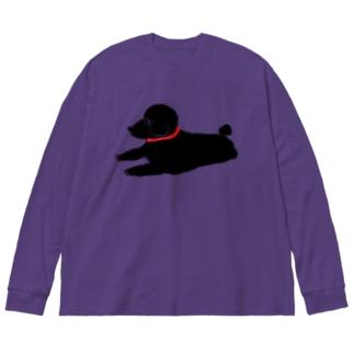 トイプーブラック Big silhouette long sleeve T-shirts