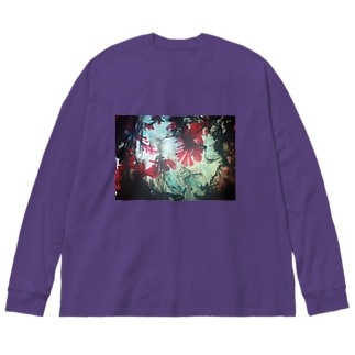 glow in the dark ver.2 Big silhouette long sleeve T-shirts