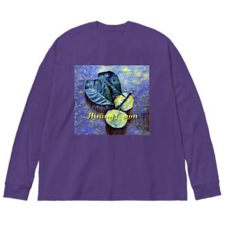 ヒラミレモン(シークワーサー) Big silhouette long sleeve T-shirts