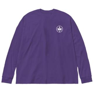 White-Mt.logo Big Silhouette Long Sleeve T-Shirt