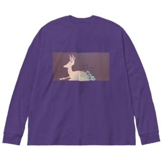 朝露の首飾り Big silhouette long sleeve T-shirts