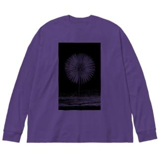 布花火 Big silhouette long sleeve T-shirts