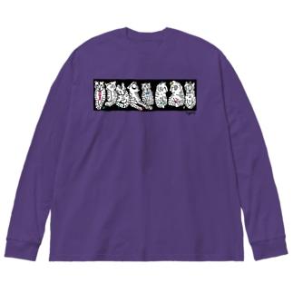TIGERS Big silhouette long sleeve T-shirts