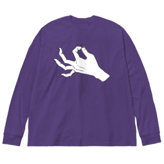 ZIP_爪透過 Big silhouette long sleeve T-shirts