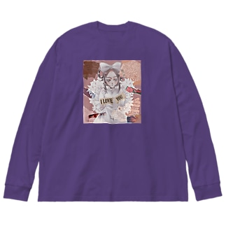 sweet lily girl Big silhouette long sleeve T-shirts