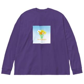 水仙 Big silhouette long sleeve T-shirts