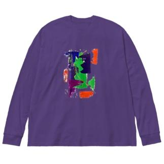 抽象画家 Big silhouette long sleeve T-shirts