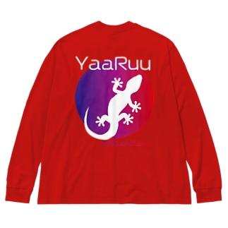 YaaRuuやーるー(やもり) グラデーション Tシャツ [Hello!Okinawa]  Big silhouette long sleeve T-shirts