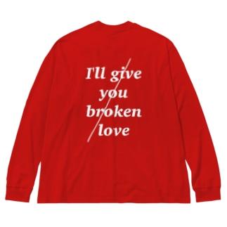 broken / love ~1~ Big silhouette long sleeve T-shirts