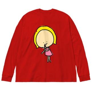 お化粧キャシー Big silhouette long sleeve T-shirts