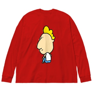 振り向きスミス Big silhouette long sleeve T-shirts