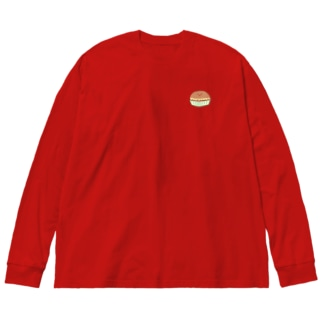 むしパンくん【チーズくん】 Big silhouette long sleeve T-shirts