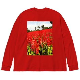 サルビアの会 Big silhouette long sleeve T-shirts