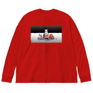 【エポッくん】エモの防災 Big silhouette long sleeve T-shirts