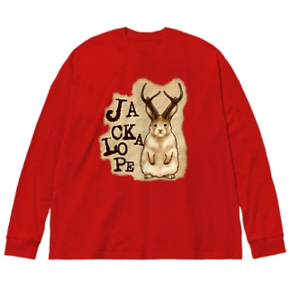 UMA ジャッカロープ ver.2 Big silhouette long sleeve T-shirts