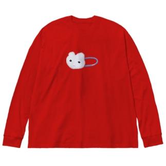 iminonaimojiのかわいいヘアゴム Big silhouette long sleeve T-shirts