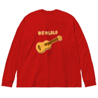 この夏おすすめ!ウクレレTシャツ Big silhouette long sleeve T-shirts