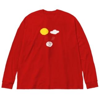 北風と太陽 Big silhouette long sleeve T-shirts