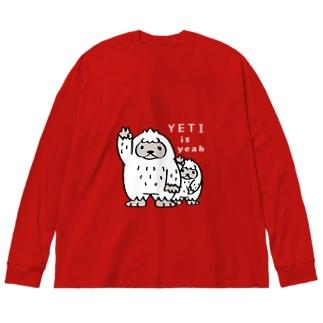 CT94 YETI is yeah*B4000 Big silhouette long sleeve T-shirts