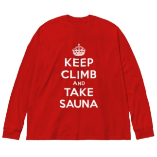 KEEP CLIMB AND TAKE SAUNA Big silhouette long sleeve T-shirts