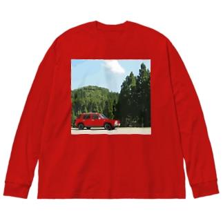 森とラシーン(色々カラー) Big Silhouette Long Sleeve T-Shirt
