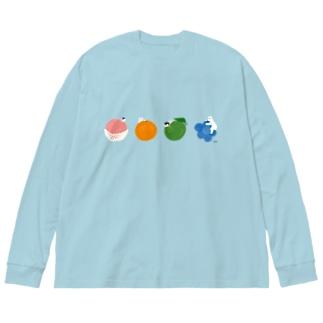 もぎたて4連 Big silhouette long sleeve T-shirts