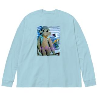 sarutarou 2 Big silhouette long sleeve T-shirts