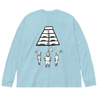難敵あらわる Big silhouette long sleeve T-shirts