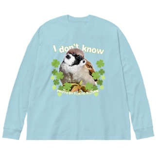 東京すずめ(I don't know) Big silhouette long sleeve T-shirts