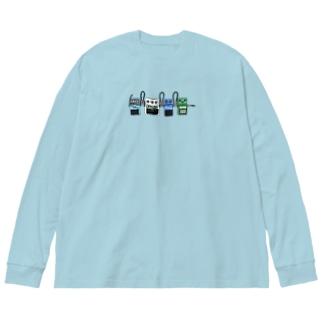 エフェクター Big silhouette long sleeve T-shirts