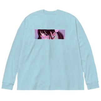 反サステナブル少女 Big silhouette long sleeve T-shirts