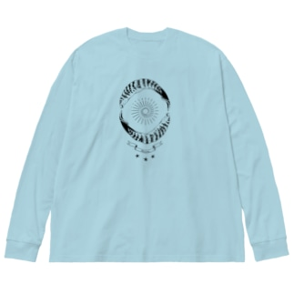 空穂紋章 Big silhouette long sleeve T-shirts