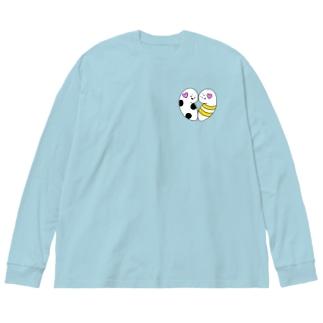 ちんあなごとゆらはぴ♡ Big silhouette long sleeve T-shirts