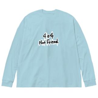 見つかりません Big silhouette long sleeve T-shirts