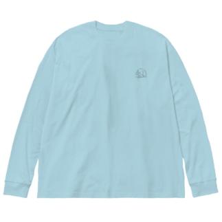 ほこらしいぬ Big silhouette long sleeve T-shirts