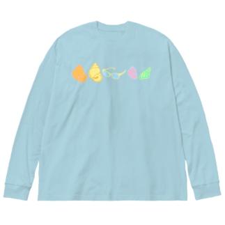 タニT(カラフル) Big silhouette long sleeve T-shirts
