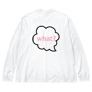 what? Big silhouette long sleeve T-shirts