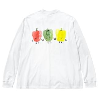 ピーマントリオ Big Silhouette Long Sleeve T-Shirt
