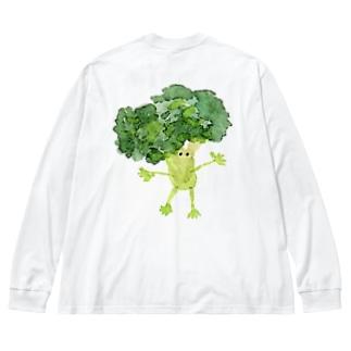 ぶろっこブロッコリ Big silhouette long sleeve T-shirts