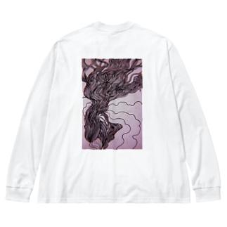 思慕 Big silhouette long sleeve T-shirts