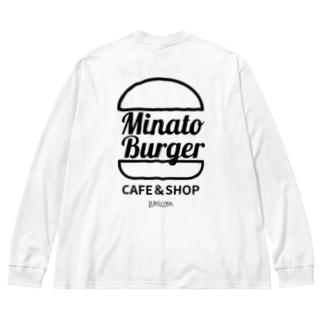 MinatoBurgerグッズ(ブラック) Big Silhouette Long Sleeve T-Shirt