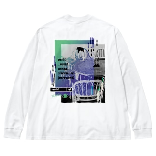 next world (両面) Big silhouette long sleeve T-shirts