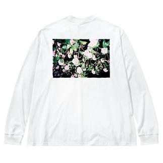 flower Big Silhouette Long Sleeve T-Shirt