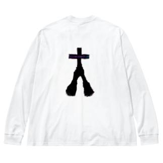 他人事 Big silhouette long sleeve T-shirts