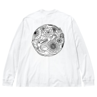 ワニの花園 Big silhouette long sleeve T-shirts