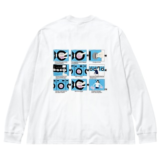 コインランドリーと音楽 LONG TEE Big silhouette long sleeve T-shirts
