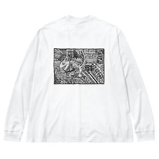 ナイトメア Big silhouette long sleeve T-shirts