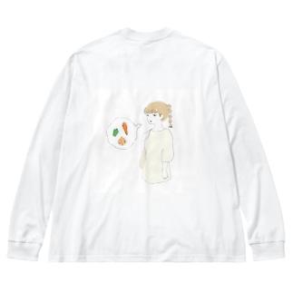 買い物ガール Big silhouette long sleeve T-shirts