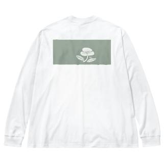 hana モス Big silhouette long sleeve T-shirts